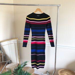 And Merci NWT Striped Knit Midi Dress Size M